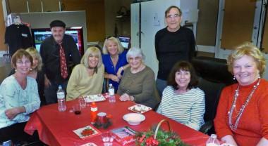 Above, from left, Sheryl Martin, Gloria D'Simone-Shute, John Kelly, Alexandra Scott-Kelly, Barbel Dagostino, Lucy Parker, Tom Nash, Jill Amadio, Marge Kinney. Photo by Jim Rohrs.