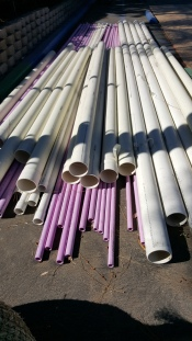Purple pipes indicate use of reclaimed water. Photo: Lucy Parker
