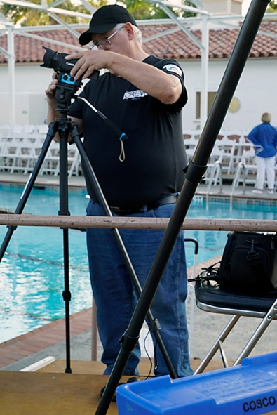 Video One Productions team captured video at August 24 Aquadettes performance. Photo: Fred Harshbarger