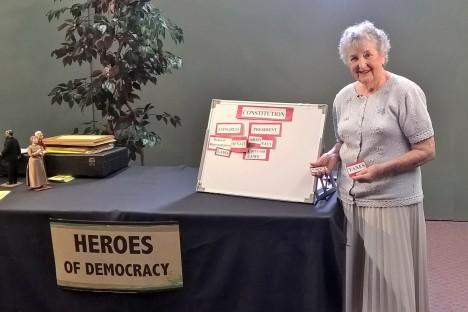 Village resident Selma Bukstein giving her presentation. Photo: Alexandra Scott-Kelly