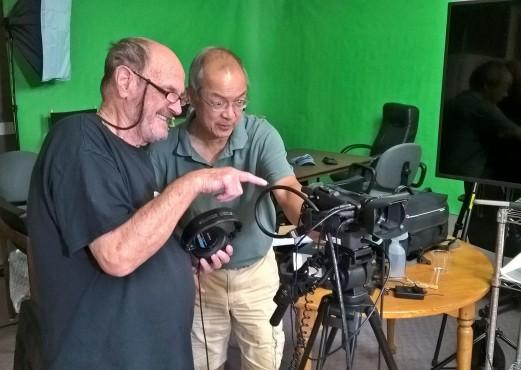John Kelly (;eft) and Paul Chiang confer during shoot. Photo: Alexandra Scott-Kelly