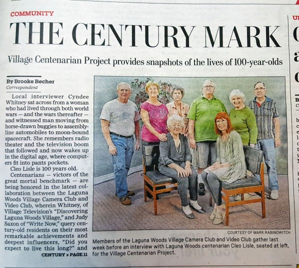 Centenarian Project in Globe 3-14-19