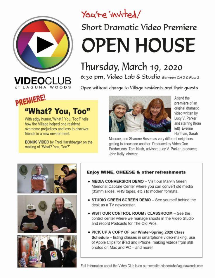 Open House-Premiere GenMtg 3-19-20 Flier-sm